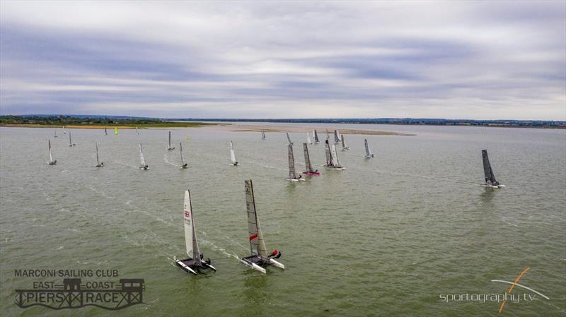 East Coast Piers Race 2019 start - photo © Alex Irwin / www.sportography.tv