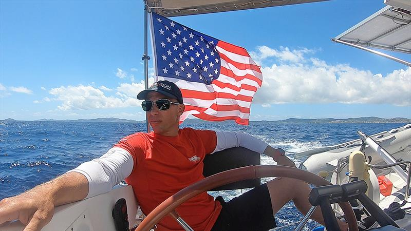 Life on the high seas... photo copyright Jason Chipp taken at  and featuring the Catamaran class