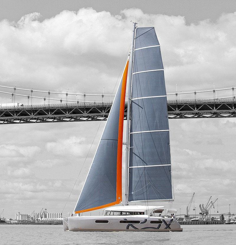 The new Excess 15 with the taller 'Pulse' rig. Ideal for light airs... photo copyright Excess Catamarans taken at  and featuring the Catamaran class