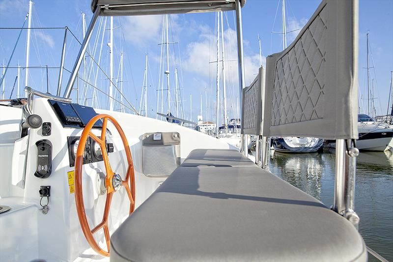 Helms are connected directly to the rudders on the Excess cats to add more feel. - photo © Excess Catamarans