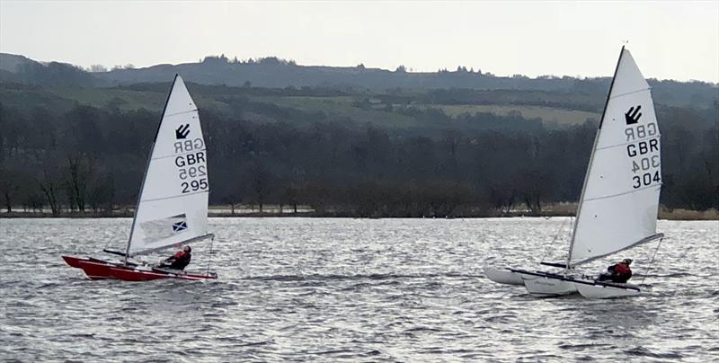 Craig and Jessica during the Sailability Scotland Challenger Travellers at Castle Semple - photo © Richard Toulson