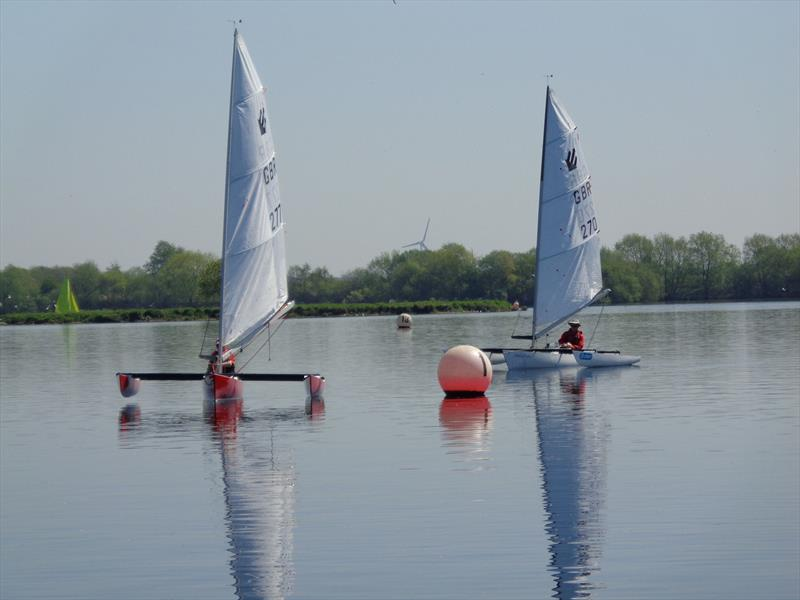 John Draper (277) and Graham Hall (270) during the Burghfield Challenger Regatta - photo © Marion Edwards