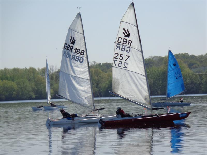 Val Millward (257) and Alex Hovden (188) during the Burghfield Challenger Regatta - photo © Marion Edwards