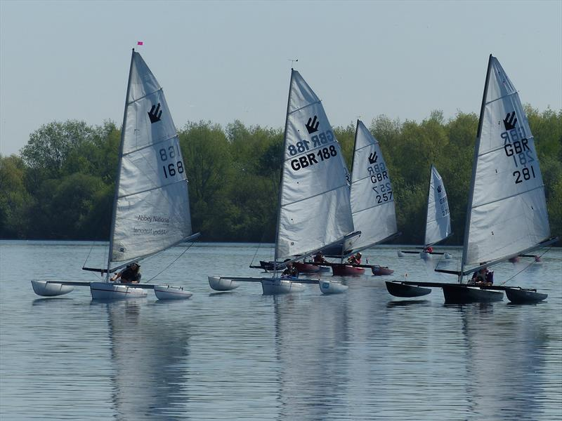 Mark Fletcher 168 just leading at the mark during the Burghfield Challenger Regatta - photo © Richard Johnson