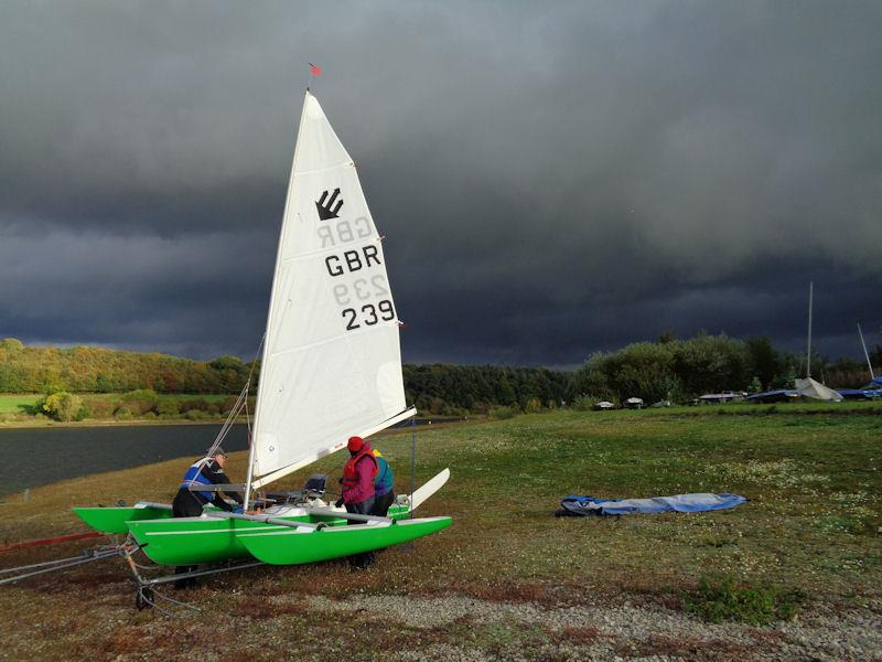 Dark clouds on Saturday thankfully bypass the Ogston Challenger Open - photo © Marion Edwards