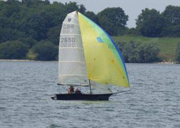Cherubs at the Grafham Water Sailing Club Asymmetric Open 2018