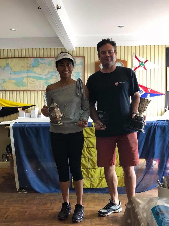 Andy & Jill Peters win the Cherub Nationals at Pembrokeshire Yacht Club - photo © PYC