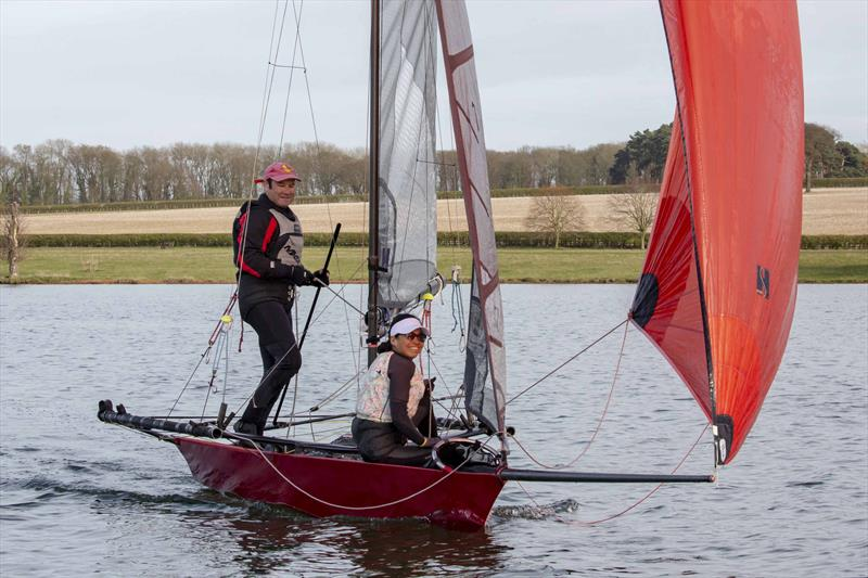 Jill and Andrew peters win the Cherub fleet at Rutland's Skiff Event - photo © Tim Olin / www.olinphoto.co.uk
