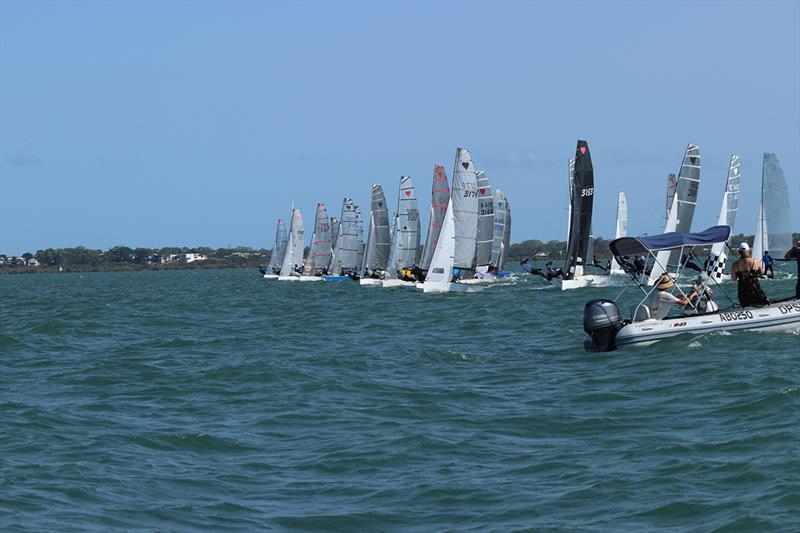 Race 9 start - 57th Cherub Australian Championship - photo © Andrew Glassock