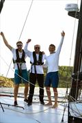 Class40 Palanad 3 crew: Olivier Magre (Skipper), Corentin Douguet and Luke Berry © Ed Gifford / RORC