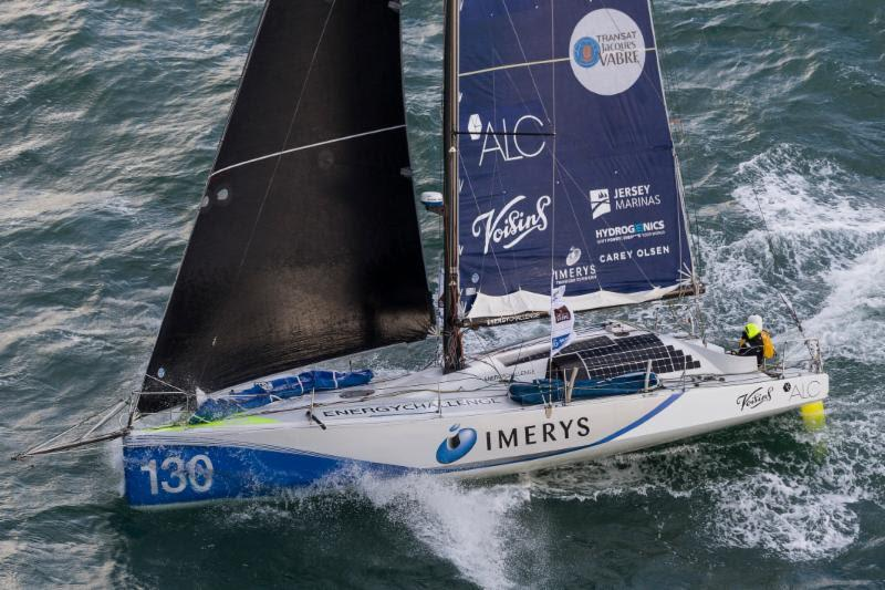 Phil Sharp's British Class40 Imerys Clean Energy. `It is a coastal race but you rarely see land and the course takes you further north than just about any offshore race,` says Sharp who is racing with Pablo Santurde and Julien Pulve - photo © Jean-Marie Liot