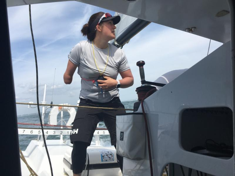 Paralympic sailor Hannah Stodel is hoping to becoming first disabled sailor to take on and complete Vendee Globe. She has chosen Region Normandie, the Class40 as her training for this and the Sevenstar RBIR represents an early test on her journey - photo © www.hannahstodelracing.com