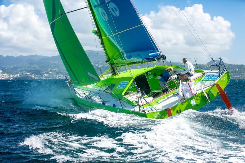 Campagne de France, the Mabire-Nivelt designed Class40. Miranda Merron who usually races double-handed with husband Halvard Mabire, is racing round for the 6th time. They will be joined by Pietro Luciani and Didier Le Vourch - photo © Arthur Daniel