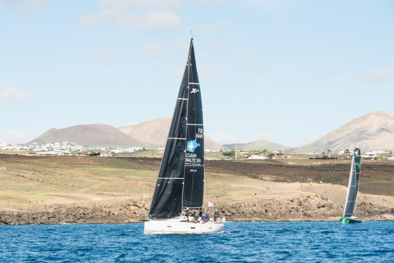 Arto Linnervuo's Finnish Xp-44 Xtra-Staerk at the start of the 2018 RORC Transatlantic Race from Calero Marinas, Marina Lanzarote - photo © RORC