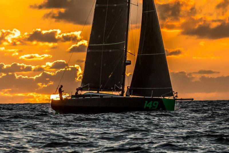 Sunset arrival in Grenada for Class40 Hydra - 2018 RORC Transatlantic Race - photo © RORC / Arthur Daniel