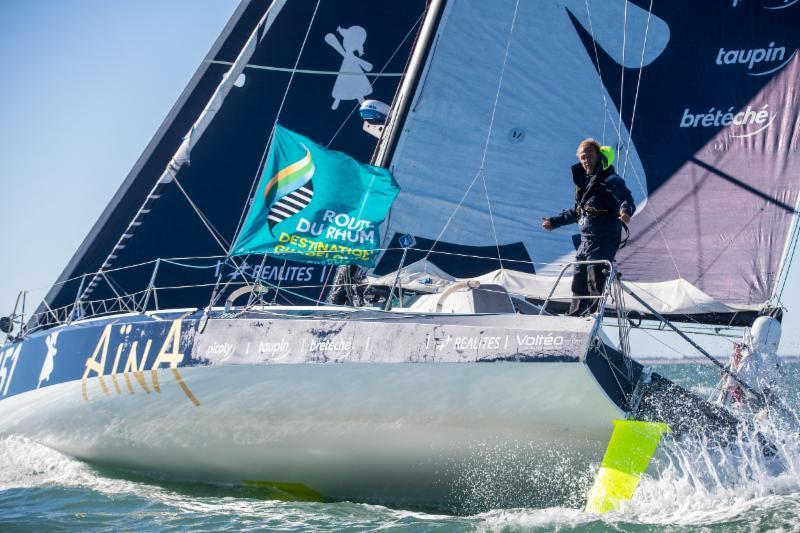Second overall in the 2018 Route du Rhum,  Aymeric Chappellier's Class40 Aïna Enfance Et Avenir will be one to watch https://www.team-aina-151.com - RORC Caribbean 600 - photo © Christophe Breschi