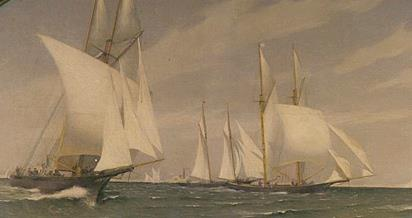 The first great transatlantic ocean race - photo © New York Yacht Club Collection