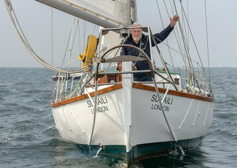 Sir Robin Knox-Johnston celebrates his 50th anniversary of becoming the first person to sail solo and non-stop around the world photo copyright Shaun Roster taken at  and featuring the Classic Yachts class