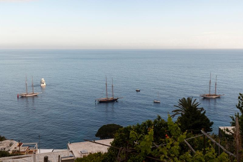 The schooners resplendent at anchor off Capri's Marina - Capri Classica 2019 - photo © Gianfranco Forza