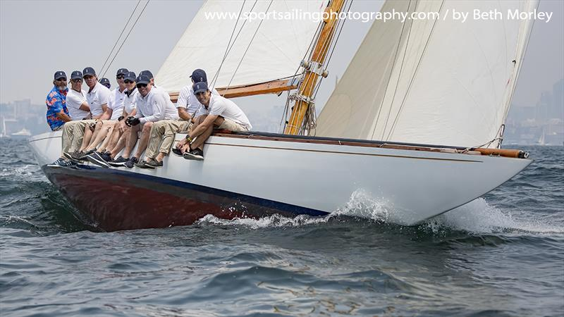 The glorious Digby 8m, Defiance, taking part in last weekend's CYCA Classic Sydney Hobart Regatta - photo © Beth Morley / www.sportsailingphotography.com
