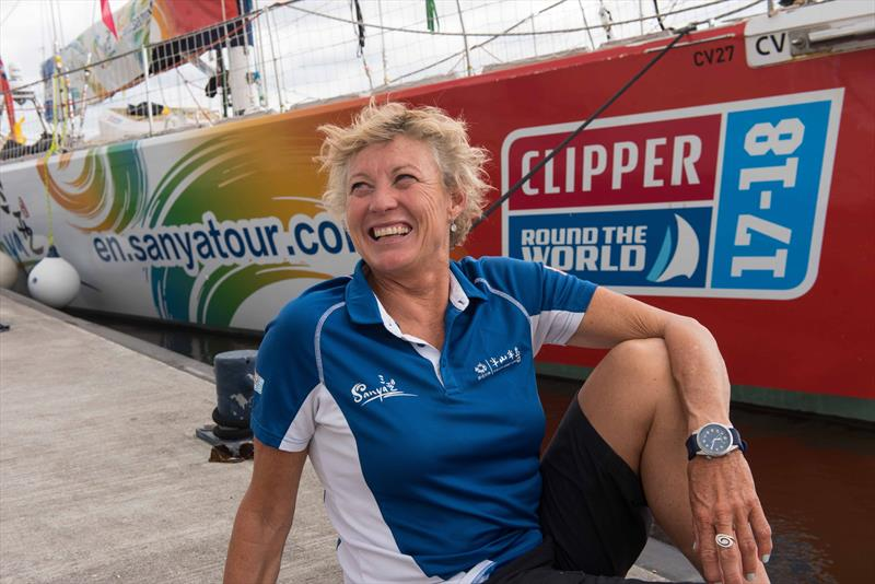 Wendy Tuck is the skipper of the Sanya Serenity Coast Clipper team photo copyright Martin McKeown taken at  and featuring the Clipper 70 class