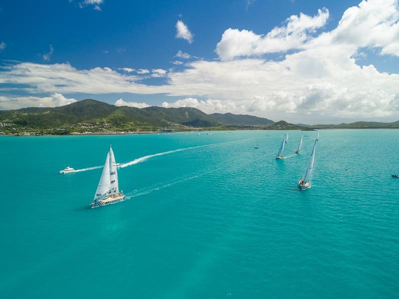 The Clipper 2017-18 Race fleet in the 74 Island Wonders of the Whitsundays - photo © Riptide Creative