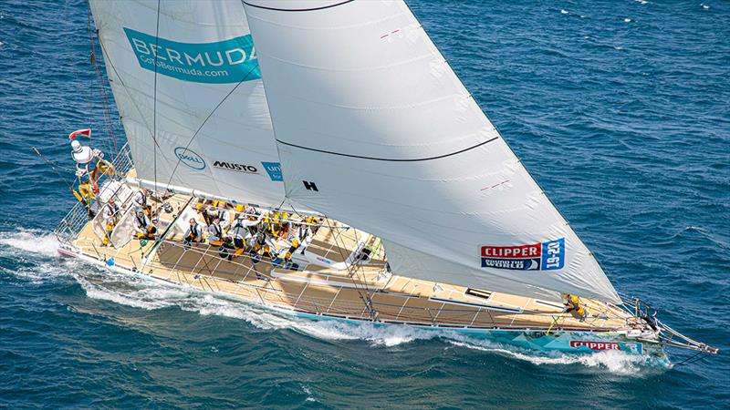 GoToBermuda completes the inshore course in the fickle winds under Table Mountain - Clipper 2019-20 Race - photo © Clipper Race