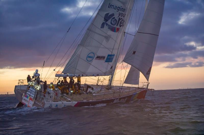 Imagine your Korea sails into Fremantle, Australia after crossing the Southern Ocean - Clipper 2019-20 Race - photo © Clipper Ventures