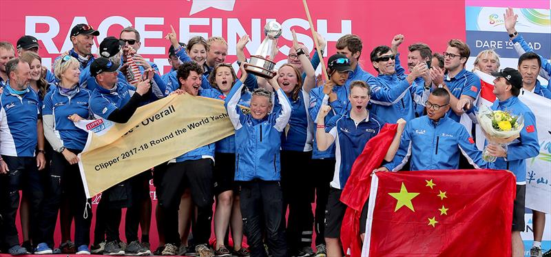 Sanya Serenity Coast wins the Clipper 2017-18 Race - photo © Clipper Race