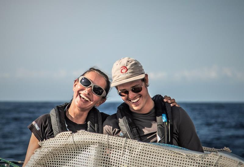Bettina and Dario at the helm - Clipper Round the World Race - photo © Clipper Race