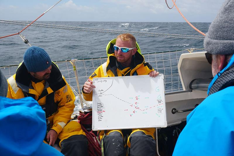 Ian was reknowned on board Ha Long Bay, Viet Nam for delivering his daily 'Wangy reports' on upcoming weather and tactics. photo copyright Clipper Race taken at  and featuring the Clipper 70 class