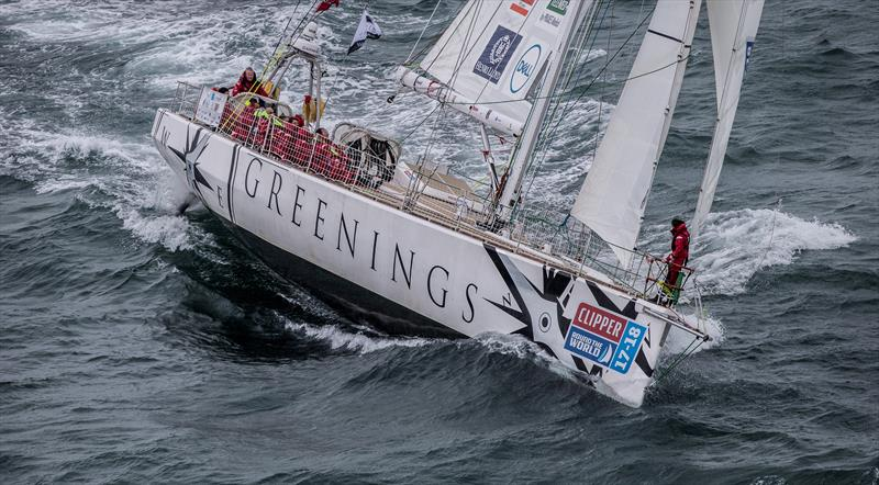 Clipper Race team Greenings diverts to Portugal following Skipper injury photo copyright Clipper Ventures taken at  and featuring the Clipper Ventures class