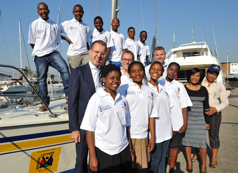 Young South Africans selected to be part of the Clipper Round the World Yacht Race Stages at the Point Yacht Club in Durban, South Africa photo copyright Sabelo Mngoma / BackpagePix taken at Point Yacht Club and featuring the Clipper Ventures class