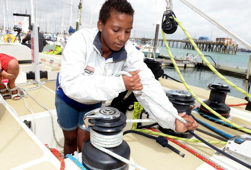Members of the South African team on board a Clipper yacht during a training session at Premier Marina, Gosport, Hampshire. - photo © Clipper Ventures