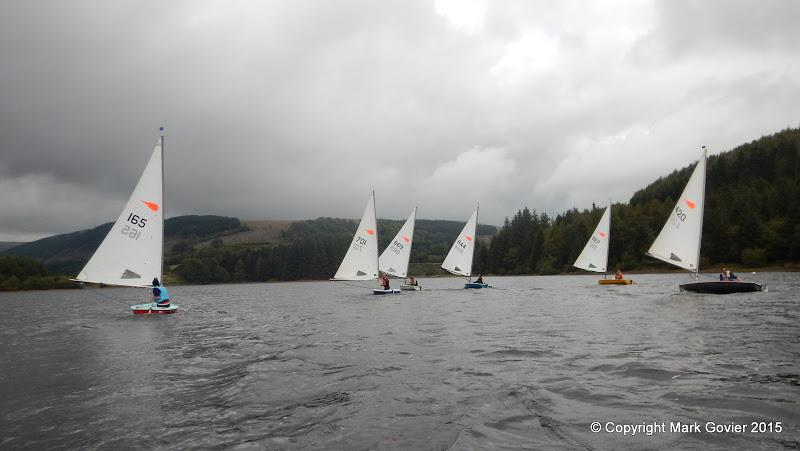 Comets at Merthyr Tydfil photo copyright Mark Govier taken at Merthyr Tydfil Sailing Club and featuring the Comet class