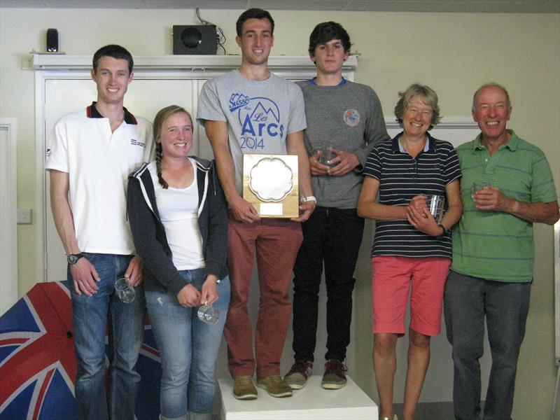 Winners in the Comet Trio Nationals at Exe photo copyright Guy Farrant taken at Exe Sailing Club and featuring the Comet Trio class