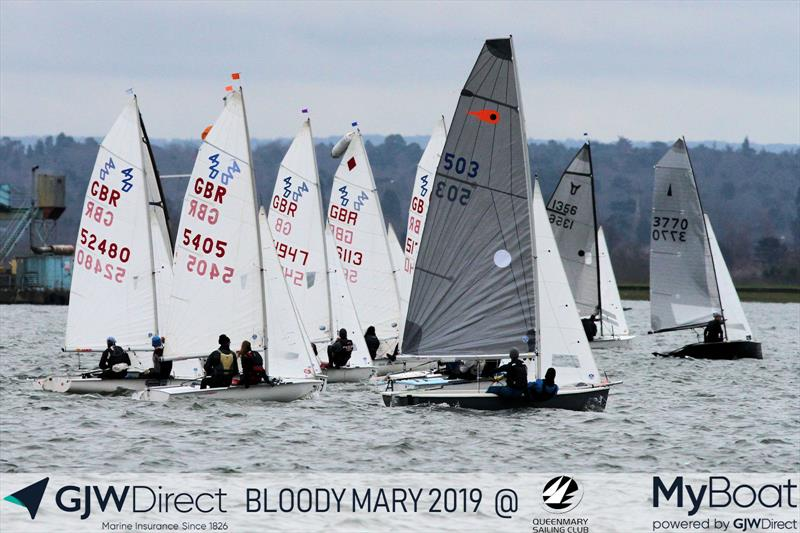 GJW Direct Bloody Mary 2019 photo copyright Mark Jardine taken at Queen Mary Sailing Club and featuring the Comet Trio class