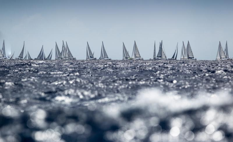 An impressive bareboat fleet racing  on Fever-Tree Race Day 2 at Antigua Sailing Week - photo © Paul Wyeth / www.pwpictures.com