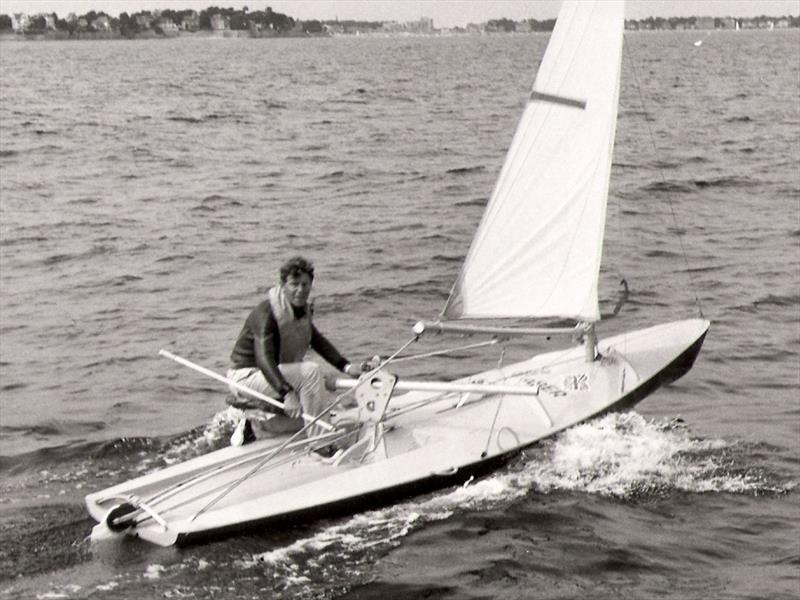 Jack Knights wasn't just an insightful journalist, but a top helm in his own right and a clever innovator – seen here on his entry for the 1965 IYRU Singlehander Trials - photo © Archive