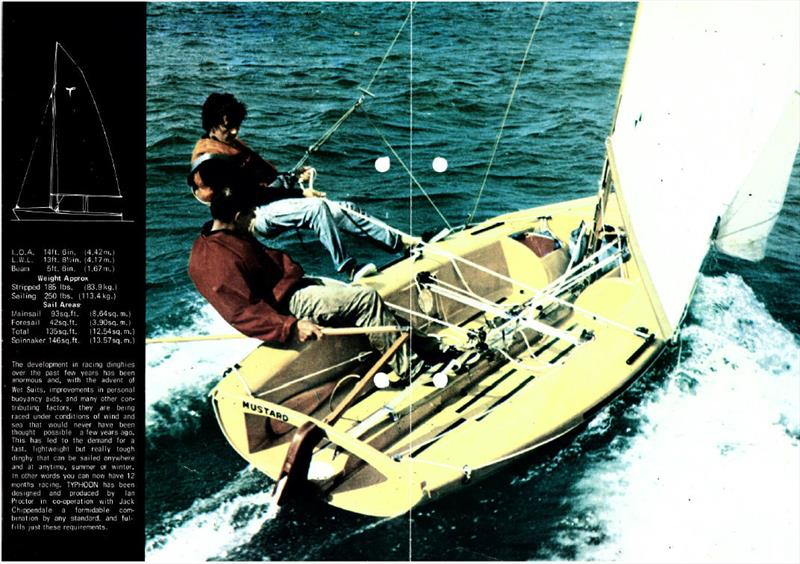 The Typhoon dinghy photo copyright Proctor family taken at  and featuring the Classic & Vintage Dinghy class