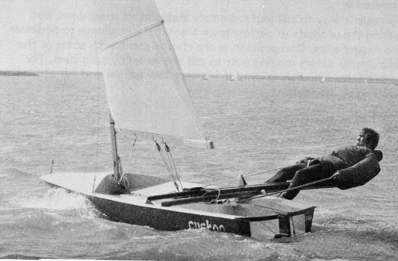 The only commercial success to come out of the 1965 Singlehander Trials at Weymouth, the ToY showed where the future lay, but would itself ultimately be a design dead-end photo copyright Trevor Davies taken at  and featuring the Classic & Vintage Dinghy class