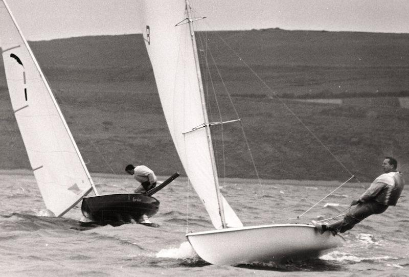 Two boats that started the process of defining the performance singlehander: Paul Elvstrom's Trapez and the Jack Holt Cavalier photo copyright D. Thomas taken at  and featuring the Classic & Vintage Dinghy class