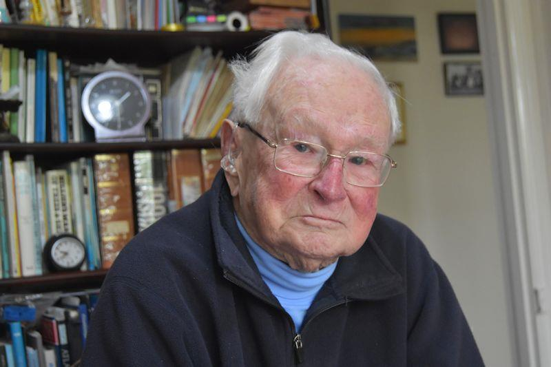 At 101 years old, Reg Bratt's amazing mind is still very active - photo © David Henshall