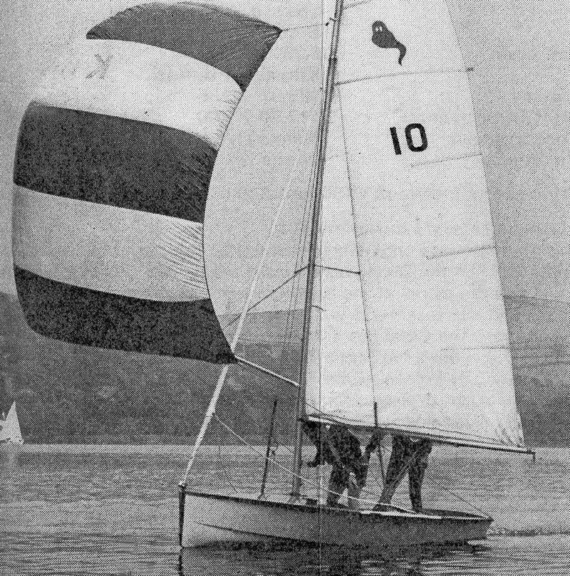 A well-used picture of Ghost number 10 sailing at one of the 'One of a Kind' events that were such a part of the dinghy scene in the late 1960s and 1970s - photo © Peter Copley / Sells Publications