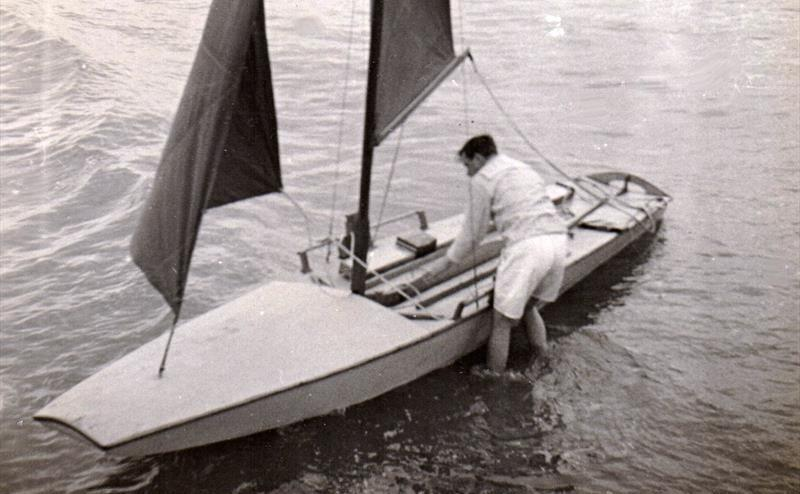 The Dingbat - Like so many innovative designers in the years to come, John Westell recognised that there was more to the scow hull form than just a simple box - photo © G. Westell