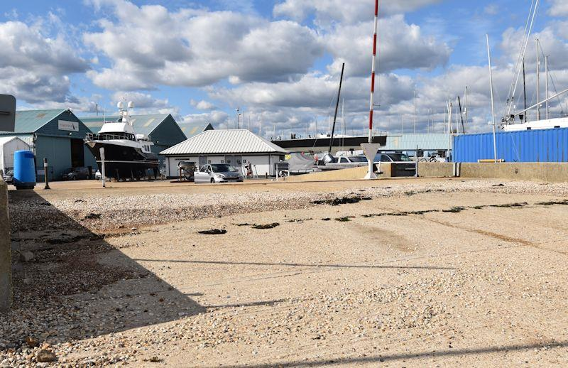 If there were Blue Plaques given for major locations in the sailing world then the old Fairey Marine slipway would surely have several - photo © Dougal Henshall