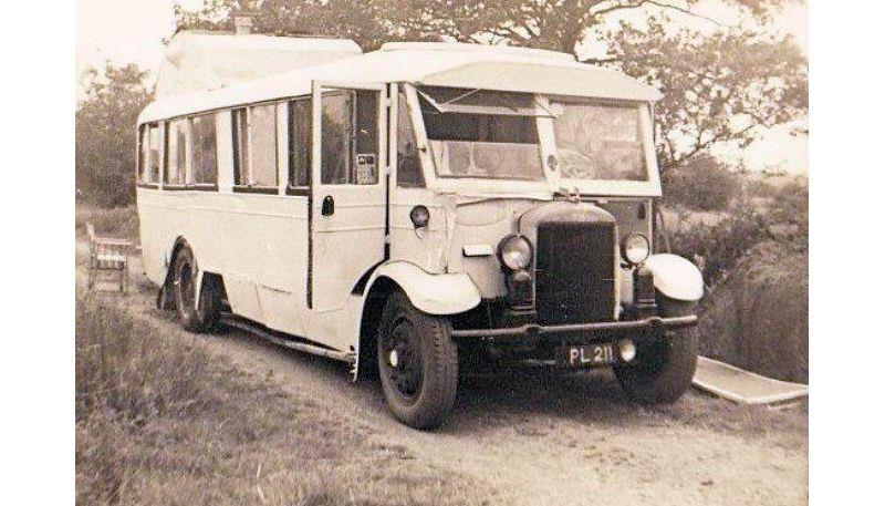 Charles Currey converted this bus into an early version of the campervan! - photo © Currey Family