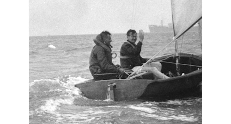 Charles Currey sailing the prototype Fairey 505 crewed by the designer, John Westell - photo © G Westell