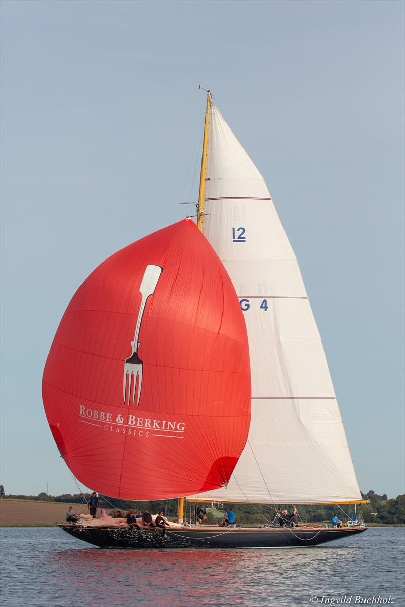12m Sphinx under spinnaker photo copyright Cyclops Marine taken at  and featuring the  class