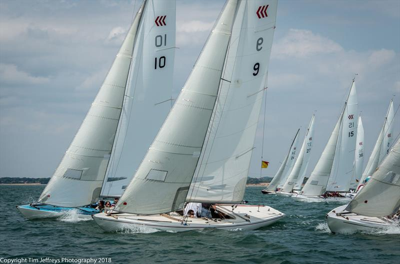 A good breeze for the tight Daring fleet on day 2 of Cowes Classics Week - photo © Tim Jeffreys Photography